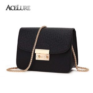 ACELURE Summer Brand Bags Women Leather Handbags Chain Small Women Messenger Bag Candy Color Women Shoulder