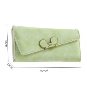 BENVICHED Fashion designer Color Scrubs Long Women Wallet Ladies Mickey Phone Purse Coin purses holders Lady