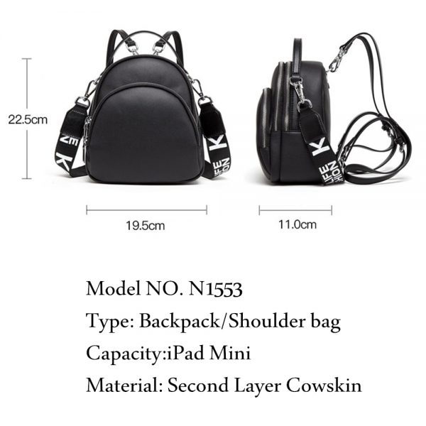 BISON DENIM Multifunction Backpack Female Genuine Leather Ladies Shoulder Bags Brand Small Women Backpack mochila feminina