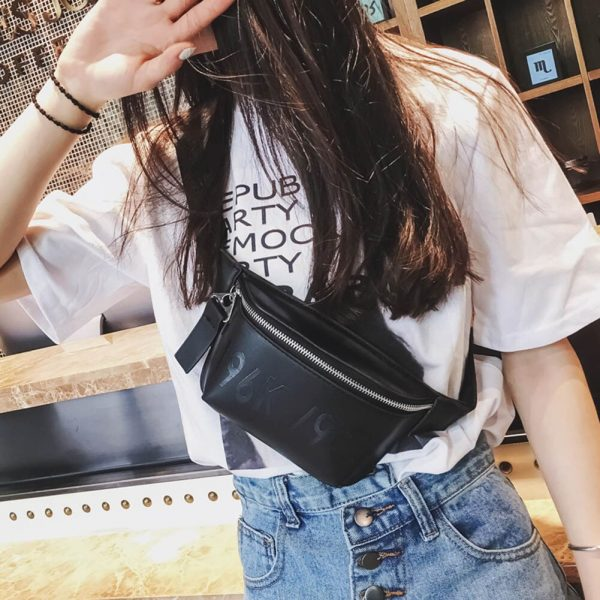 Bags for Women  Fashion Women Waist Bag PU Leather Chest Bag Vintage Shoulder Small Belt