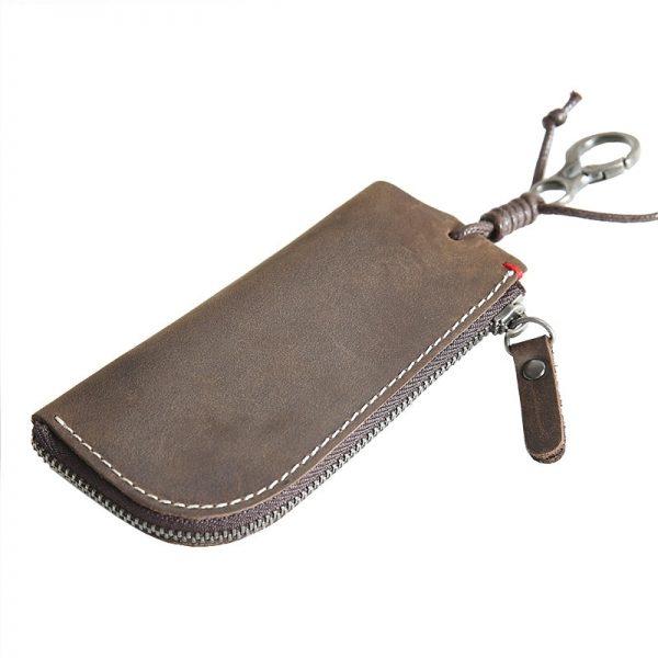 CICICUFF Genuine Leather Vintage Key Wallets Unisex Key Case Fashion Organizer Man Car Keys Bag Housekeeper