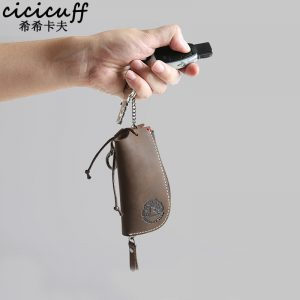CICICUFF Genuine Leather Vintage Key Wallets Unisex Key Case Fashion Organizer Man Car Keys Bag Housekeeper