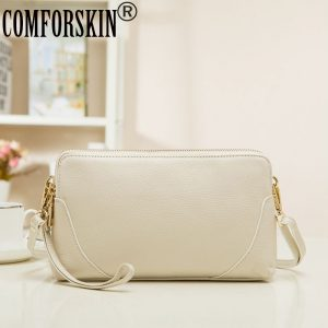 COMFORSKIN Brand Feminine Top Flap Quality Day Clutches  Genuine Leather Messenger Bag Women Bags Ladies