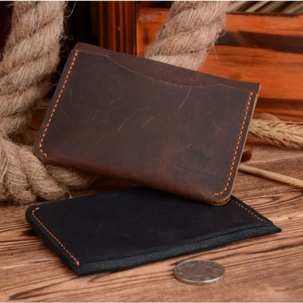 COWATHER  new Credit card holder crazy horse luxury leather high quality small male cards wallet