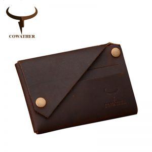 COWATHER New arrival Credit Card holder Crazy horse leather wallet men cow genuine leather good cards