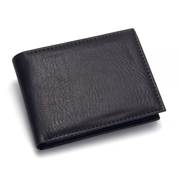 Casual Men s Wallets Leather Solid Luxury Wallet Men Pu Leather Slim Bifold Short Purses Credit