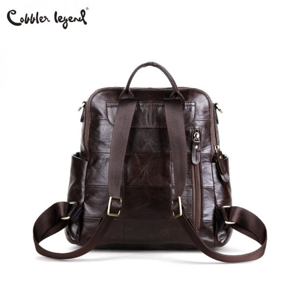 Cobbler Legend Women Backpack Retro Genuine Leather Backpack Laptop Ladies Shoulder Bag Top handle Travel Bags