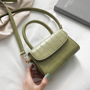 Crocodile Pattern Crossbody Bags For Women  Small Chain Handbag small bag PU Leather Hand Bag