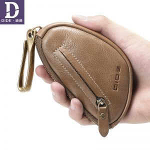 DIDE Brand Key Wallet Mini Coin Wallet Genuine Leather  housekeeper for keys purse keychain Car