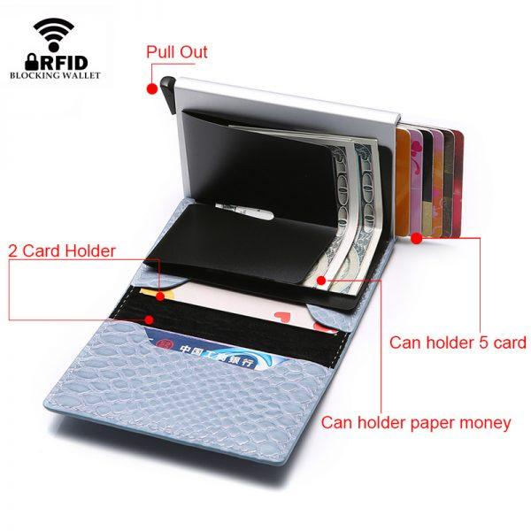 DIENQI Rfid Smart Men Wallets Money Bag Magic Trifold Mini Slim Wallet Male Small Leather Wallet