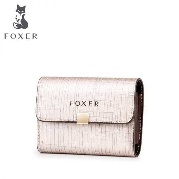 FOXER Brand Lady s Coin Pocket Women Short Style Wallet Luxury Female Purse Girl Card Holder