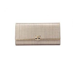FOXER Women Cowhide Leather Long Wallet Fashion Lady Purse Cellphone Luxury Purse for Lady Women s
