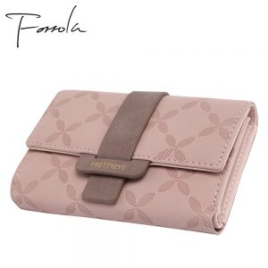Fashion Female Wallet Leather Women Wallets Floral Foldable Change Purse Credit Card Lady Coin Purses Holders