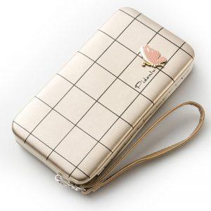 Fashion Long Wallets Women Hasp Wallet Female Phone Case Coin Pocket Luxury Wristlet Women s Purse