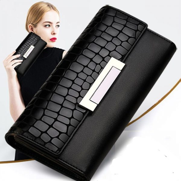 Fashion Women Wallets Genuine Leather High Quality Long Design Clutch Cowhide Wallet Fashion Female Purse Portefeuille
