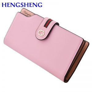 Free shipping HENGSHENG fashion red women wallet with leather long women wallet and phone holder female