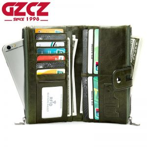 GZCZ Casual Leather Women Wallet  Genuine Leather Men s Long Wallet Women Leather Wallet Fashion