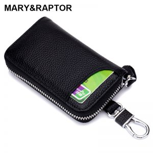 Genuine Leather KeyChain Men Women Key Case Multifunction Organizer Wallet Holder Smart Housekeeper Car Small Key