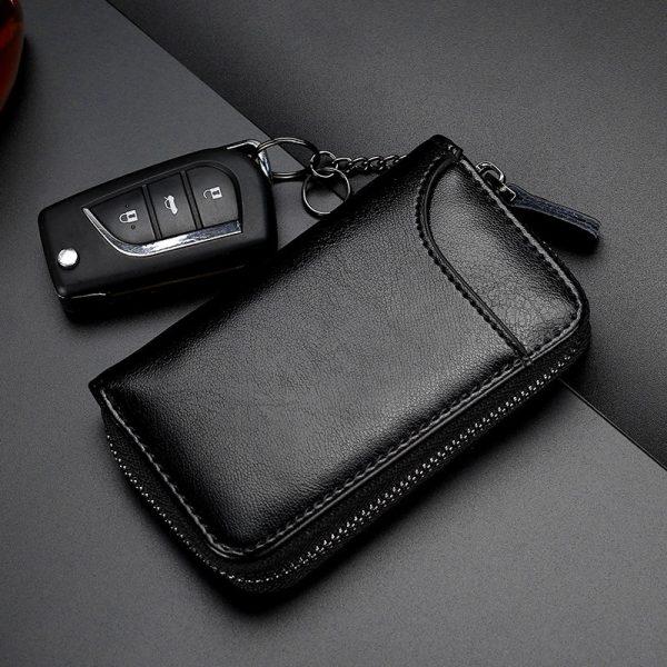 Genuine Leather KeyChain Unisex Key Bag Multifunction Organizer Wallet Holder Smart Housekeeper Car Small Key Case