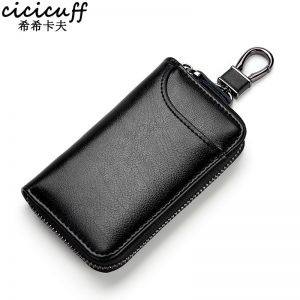 Genuine Leather KeyChain Unisex Key Bag Multifunction Organizer Wallet Holder Smart Housekeeper Car Small Key Case