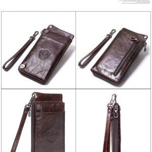 Genuine Leather Luxury Men's Clutch Wallet, Coin Purse & Phone Wallet