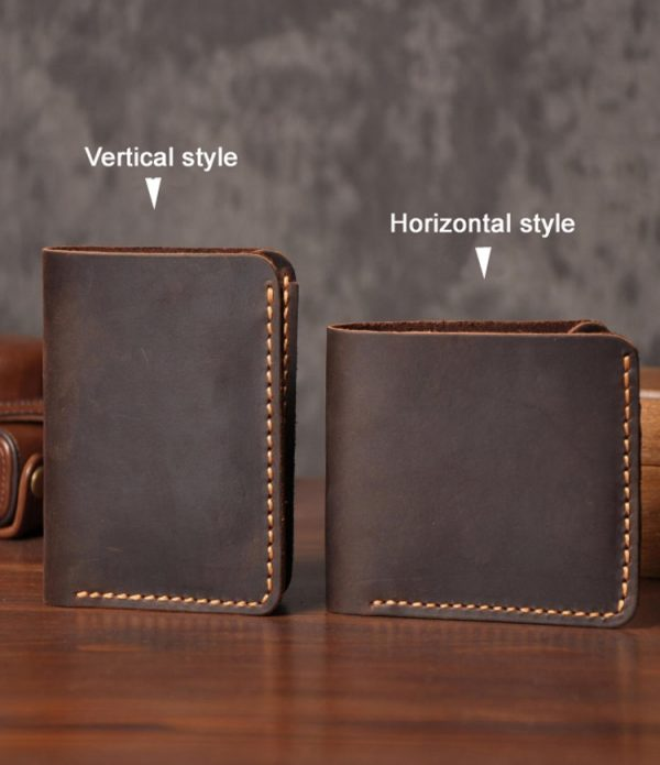 Handmade Vintage Crazy horse Genuine Leather Wallet Men Wallet Leather Men Purse Clutch Bag Male purse