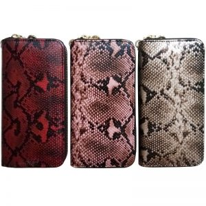 KANDRA New Women s Natural Python Snake Skin Leather Wallet Clutch Purse Large Capacity Ladies Wristlet