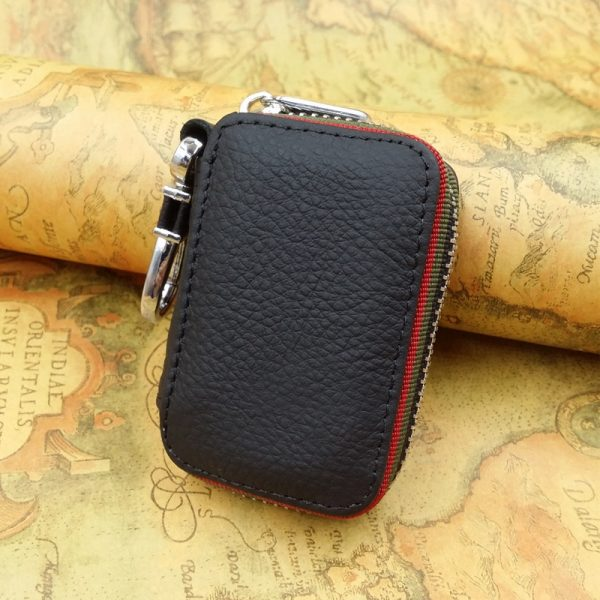 Key holder for car keys wallet pouch bag Genuine leather keychain housekeeper car key case organizer