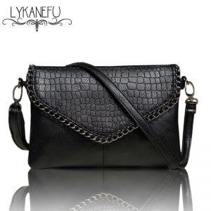 LYKANEFU Casual Small Bag for Women Messenger Bags for Women Shoulder Bags Crossbody Black Clutch Purse