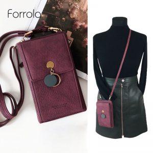 Latest Women Leather Shoulder Wallet Phone bag Case Female Multifunction Coin Change Passport Purse Card Holder