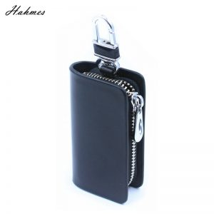 Leather Key holder for car key wallet pouch bag Genuine leather keychain housekeeper car key case