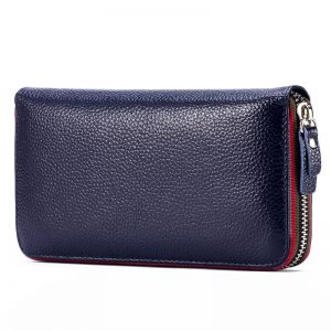 Long Women Wallet with Interior Moblie Female Large Purse Perse Carteira Woman Genuine Leather Card Holder