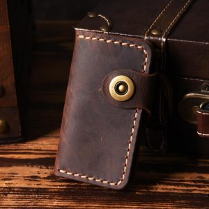 Luxury Handmade Key holder men Genuine Leather key holder Leather key wallet keychain housekeeper women smart