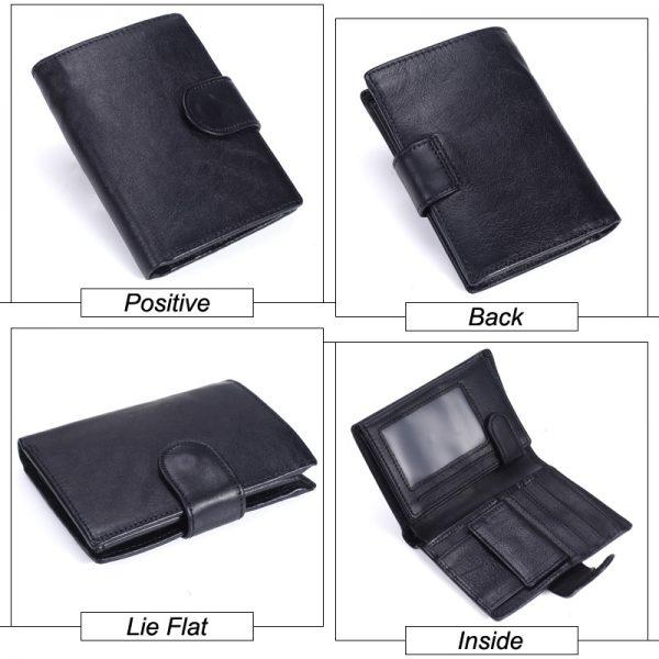 MISFITS Vintage Men Wallet Genuine Leather Short Wallets Male Multifunctional Cowhide Male Purse Coin Pocket Photo