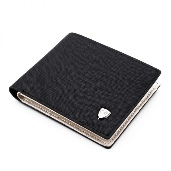 Men Wallets Fashion Solid Color Cross Pattern Open Multi Card Position Wallet Men Leather Purse Men