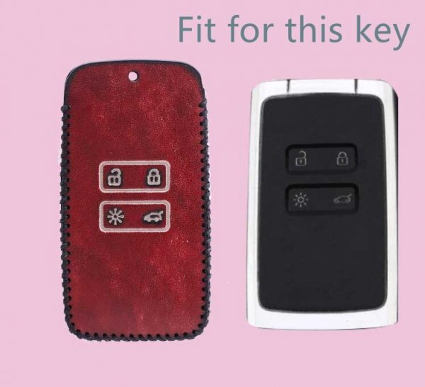 Men Women Gift Car Retro Genuine Leather Keychain Case Cover For Renault Fluence Duster Megane Kadjar