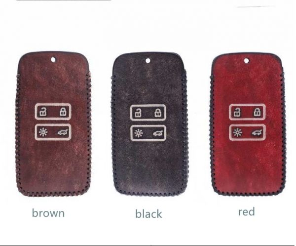 Men Women Gift Car Retro Genuine Leather Keychain Case Cover For Renault Fluence Duster Megane Kadjar