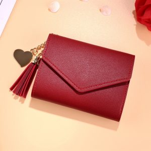 Mini Tassel Wallet Women Fashion Purse Female Short Mini Wallets Korean Students Lovely Purse Female Small