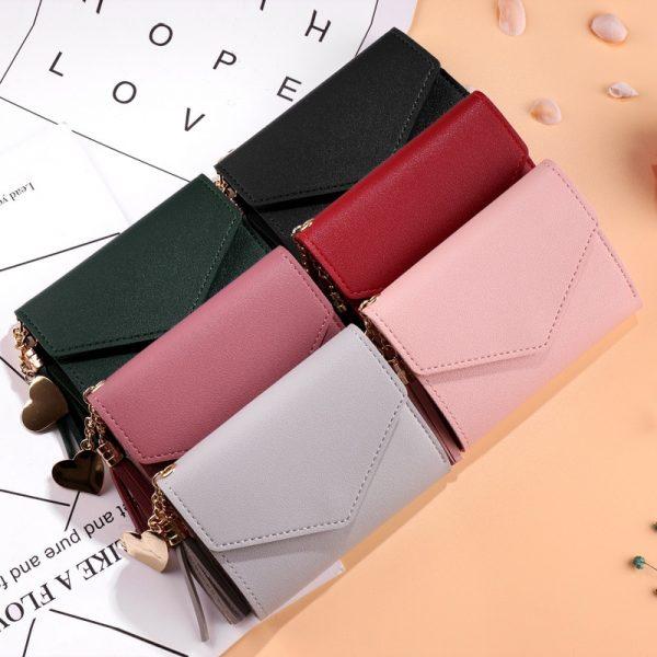 Mini Tassel Wallet Women Fashion Purse Female Short Mini Wallets Korean Students Lovely Purse Female Small