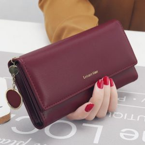 New  Fashion Wrist band Women Wallets Long Style Multi functional wallet Purse Fresh PU leather
