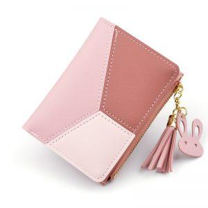 New Arrival Wallet Short Women Wallets Zipper Purse Patchwork Fashion Panelled Wallets Trendy Coin Purse Card