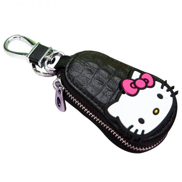 New Cute Hello Kitty Keychain Exquisite Coin Zipper Wallet Keychain Woman Girl Handbag Wallet Pendant Jewelry