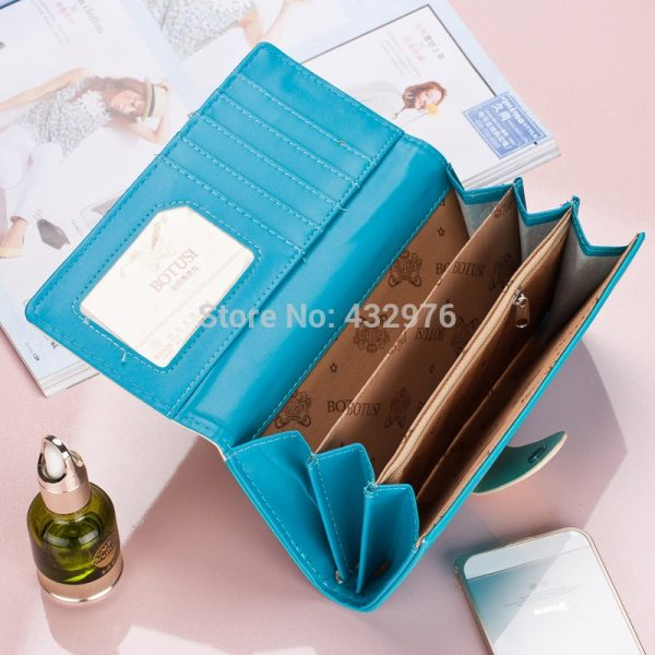 New Women Wallets Soft PU Leather Cute Cats Hasp Lady Purses Wallet Cards ID Holder Moneybags