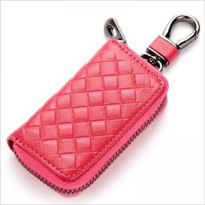 PU Leather Keychain Men Women Key Holder Organizer Pouch Split Car Key Bag Wallet Housekeeper Key
