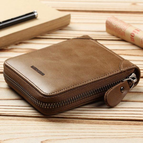 PU leder m nner brieftasche mit m nzfach vintage haspe herren brieftaschen mit karte halter luxus