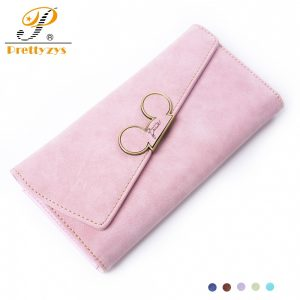 Prettyzys Wallet Female Cute Long Purse Wallet Large Phone Card Holder Coin Pu Leather Ladies Soft