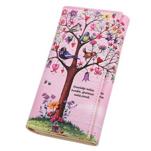 Promotion Women Wallet PU Leather Fashion Lady Purses Long Fold Coin Purse Cards ID Photo Holder
