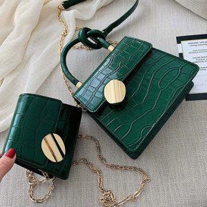 Quality Stone Pattern Leather Crossbody Bags For Women Designer Small Handbags Chain Shoulder Messenger Bag Mini