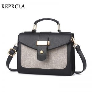 REPRCLA  Fashion Shoulder Bag Leather Handbag Small Flap Women Messenger Bags High Quality PU Crossbody