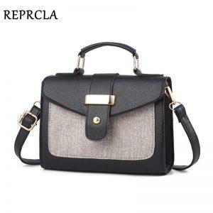 REPRCLA  Fashion Shoulder Bag Leather Handbag Small Flap Women Messenger Bags High Quality PU Crossbody